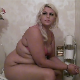 A pretty blonde fat girl takes a soft-sounding shit and a piss while sitting on a toilet. Beautiful side view of this remarkable BBW. No product seen. About 3 minutes.